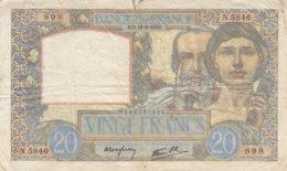 Billet 20 F Science Et Travail Du 18-9-1941 FAY 12.18 Alph. N.5846 - 1871-1952 Anciens Francs Circulés Au XXème