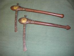 Pair Vieux Haches Africaines - Armas Blancas