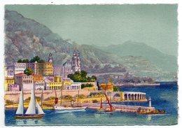 MONACO--Monte-Carlo--illustrateur  BARDAY -- Le Port.......pas Très Courante ..... à Saisir - Illustrators & Photographers