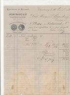 FA 1238  / FACTURE   RAFFINERIE DE MELASSE LADMIRAULT & Cie  CHATENAY SUR LOIRE     1881 - Alimentaire