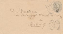 Nederlands Indië - 1901 - 10 Op 12,5 Cent Willem III, Envelop G10 Lokaal Gebruikt VK Padang - Niederländisch-Indien