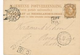 Nederlands Indië - 1886 - 7,5 Cent Willem III, Briefkaart G5 Van KR MALANG - Na Posttijd - Naar Rotterdam - Nederlands-Indië
