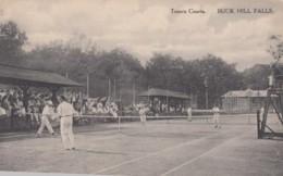 Tennis Courts, Buck Hill Falls, Poconos Resort, Pennsylvania, Men Play Tennis C1910s/20s Vintage Albertype Postcard - Tennis