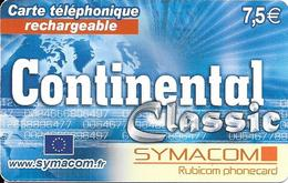 CARTE-PREPAYEE-SYMACOM-7.5€-CONTINENTAL-31/12/10-GRATTE-TBE - Autres Prépayées