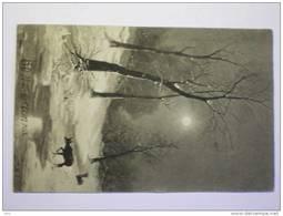 Fantasie Bonne Année Winter Ater Beek Hert 1918 Verstuurd Naar Mechelen - Belgique