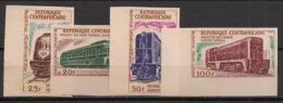 Centrafricaine - 1963 - PA N°Yv. 12 à 15 - Trains - Non Dentelé / Imperf. - Neuf ** / MNH / Postfrisch - Treni