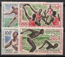 Centrafricaine - 1964 - Poste Aérienne PA N°Yv. 22 à 25 - Olympics / Tokyo 64 - Neuf Luxe ** / MNH / Postfrisch - Verano 1964: Tokio