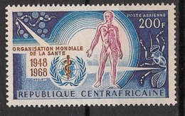 Centrafricaine - 1968 - Poste Aérienne PA N°Yv. 56 - OMS - Neuf Luxe ** / MNH / Postfrisch - WHO