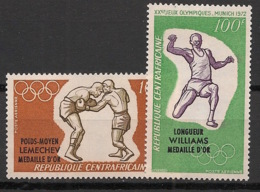 Centrafricaine - 1972 - Poste Aérienne PA N°Yv. 105 à 106 - Olympics / Munich 72 - Neuf Luxe ** / MNH / Postfrisch - Centraal-Afrikaanse Republiek