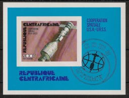 Centrafricaine - 1976 - Bloc Feuillet BF N°Yv. 9 - Spatial - Non Dentelé / Imperf. - Neuf Luxe ** / MNH / Postfrisch - Afrika