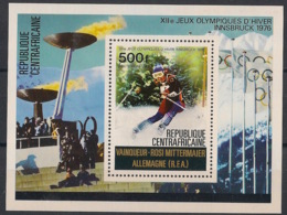 Centrafricaine - 1976 - Bloc Feuillet BF N°Yv. 11 - Olympics Innsbruck 76 - Neuf Luxe ** / MNH / Postfrisch - Centrafricaine (République)