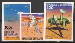 Centrafricaine - 1976 - PA N°Yv. 153 à 155 - Opération Viking - Non Dentelé / Imperf. - Neuf Luxe ** / MNH / Postfrisch - Afrika