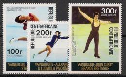 Centrafricaine - 1976 - Poste Aérienne PA N°Yv. 150 à 152 - Olympics / Innsbruck 76 - Neuf Luxe ** / MNH / Postfrisch - Zentralafrik. Republik