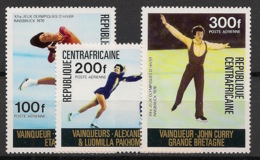 Centrafricaine - 1976 - Poste Aérienne PA N°Yv. 150 à 152 - Olympics / Innsbruck 76 - Neuf Luxe ** / MNH / Postfrisch - República Centroafricana