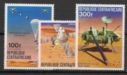 Centrafricaine - 1976 - Poste Aérienne PA N°Yv. 153 à 155 - Opération Viking - Neuf Luxe ** / MNH / Postfrisch - Zentralafrik. Republik