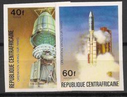 Centrafricaine - 1976 - N°Yv. 265 à 266 - Opération Viking - Non Dentelé / Imperf. - Neuf Luxe ** / MNH / Postfrisch - Afrika