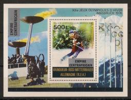 Centrafricaine - 1977 - Bloc Feuillet BF N°Yv. 17 - Olympics Innsbruck 76 - Neuf Luxe ** / MNH / Postfrisch - Central African Republic