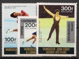 Centrafricaine - 1977 - Poste Aérienne PA N°Yv. 175 à 177 - Olympics / Innsbruck 76 - Neuf Luxe ** / MNH / Postfrisch - República Centroafricana