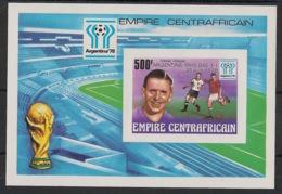 Centrafricaine - 1978 - Bloc Feuillet BF N°Yv. 27 - Football - Non Dentelé / Imperf. - Neuf Luxe ** / MNH / Postfrisch - 1978 – Argentine