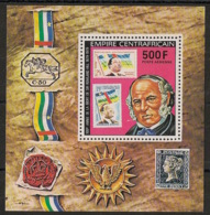 Centrafricaine - 1978 - Bloc Feuillet BF N°Yv. 28 - Sir Rowland Hill - Neuf Luxe ** / MNH / Postfrisch - Rowland Hill
