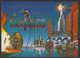 Centrafricaine - 1979 - Bloc Feuillet BF N°Yv. 34 - Olympics Moscou 80 - Neuf Luxe ** / MNH / Postfrisch - Zentralafrik. Republik