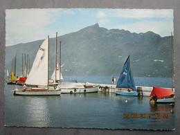 CP 73 AIX LES BAINS - Le Lac Du Bourget Et La Dent Du Chat  - Port De Plaisance , Voiliers 1969 - Aix Les Bains