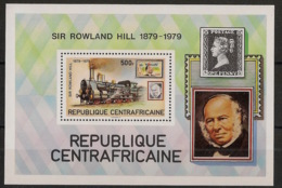 Centrafricaine - 1979 - Bloc Feuillet BF N°Yv. 39 - Sir Rowland Hill - Neuf Luxe ** / MNH / Postfrisch - Rowland Hill