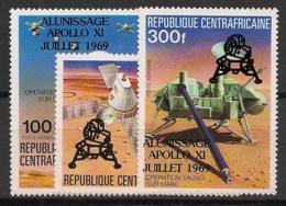 Centrafricaine - 1979 - Poste Aérienne PA N°Yv. 212 à 214 - Homme Sur La Lune - Neuf Luxe ** / MNH / Postfrisch - Afrika