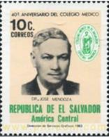 Ref. 359113 * MNH * - EL SALVADOR. 1983. 40 ANIVERSARIO DEL COLEGIO MEDICO - Médecine