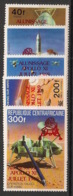 Centrafricaine - 1979 - N°Yv. 393a à 394a Et PA 212a à 214a - Apollo - Red Ovpt. - Neuf Luxe ** / MNH / Postfrisch - Afrika