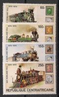 Centrafricaine - 1979 - N°Yv. 400 à 403 - Locomotives - Neuf Luxe ** / MNH / Postfrisch - Centraal-Afrikaanse Republiek