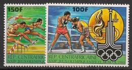 Centrafricaine - 1980 - Poste Aérienne PA N°Yv. 224 à 225 - Olympics Moscou 80 - Neuf Luxe ** / MNH / Postfrisch - Zentralafrik. Republik