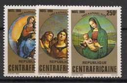 Centrafricaine - 1980 - N°Yv. 423 à 425 - Noel / Raphael - Neuf Luxe ** / MNH / Postfrisch - Zentralafrik. Republik