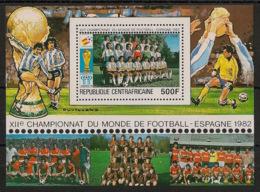 Centrafricaine - 1981 - Bloc Feuillet BF N°Yv. 45 - Football World Cup Espana 82 - Neuf Luxe ** / MNH / Postfrisch - República Centroafricana