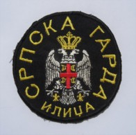 "1991-1995 Bosnian War - Serbian Paramilitary Unit ""Serbian Guard Ilidža"" - Sleeve Patch - Stoffabzeichen"