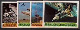Centrafricaine - 1981 - N°Yv. 446 à 449 - Espace - Non Dentelé / Imperf. - Neuf Luxe ** / MNH / Postfrisch - Afrika