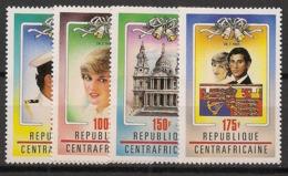 Centrafricaine - 1981 - N°Yv. 450 à 453 - Princess Diana - Neuf Luxe ** / MNH / Postfrisch - Zentralafrik. Republik