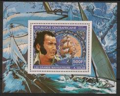 Centrafricaine - 1982 - Bloc Feuillet BF N°Yv. 54 - Alain Colas - Neuf Luxe ** / MNH / Postfrisch - Zentralafrik. Republik