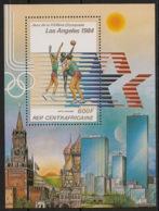 Centrafricaine - 1982 - Bloc Feuillet BF N°Yv. 61 - Olympics Los Angeles 84 - Neuf Luxe ** / MNH / Postfrisch - Zentralafrik. Republik