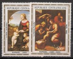 Centrafricaine - 1982 - Poste Aérienne PA N°Yv. 261 à 262 - Noel / Raphael - Neuf Luxe ** / MNH / Postfrisch - Zentralafrik. Republik