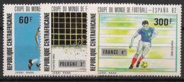 Centrafricaine - 1982 - N°Yv. 531 à 533 - Football World Cup Espana 82 - Neuf Luxe ** / MNH / Postfrisch - Fußball-Weltmeisterschaft