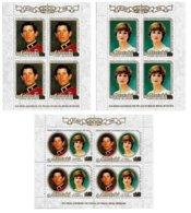 AITUTAKI, Royalty: Royal Wedding, Yv 301-03, ** MNH, F/VF, Cat. € 30 - Aitutaki