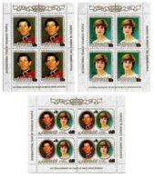 AITUTAKI, Royalty: Royal Wedding, Yv 317A-C, ** MNH, F/VF, Cat. € 42 - Aitutaki