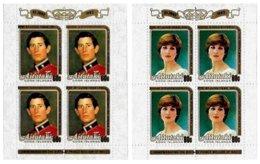 AITUTAKI, Royalty: Royal Wedding, Yv 331A-32A, ** MNH, F/VF, Cat. € 30 - Aitutaki