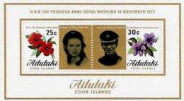 AITUTAKI, Royalty: Royal Wedding, Yv Bk 1, ** MNH, F/VF, Cat. € 3 - Aitutaki