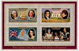 AITUTAKI, Royalty: Silver Jubilee, Yv Bk 15, ** MNH, F/VF, Cat. € 13 - Aitutaki