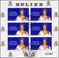 BELIZE, Royalty: The Queen Mother, Yv 503, Used, F/VF, Cat. € 5 - Belize (1973-...)