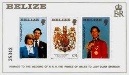 BELIZE, Royalty: Royal Wedding, Yv Bk 25, ** MNH, F/VF, Cat. € 14 - Belize (1973-...)