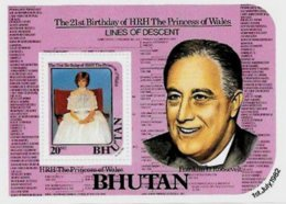 BHUTAN, Royalty: Lady Diana Spencer, Yv Bk 85, ** MNH, F/VF, Cat. € 10 - Bhoutan