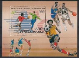 Centrafricaine - 1983 - Bloc Feuillet BF N°Yv. 69 - Olympics Los Angeles 84 - Neuf Luxe ** / MNH / Postfrisch - Zentralafrik. Republik